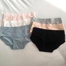 促銷特惠 馨幫幫bra 學生百搭純色少女內褲簡約風中腰棉質基礎三角底褲內搭