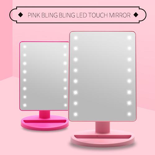 韓國 Coringco LED桌上型化妝鏡 1入【BG Shop】2款供選