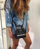 ■現貨在台■專櫃85折■ Balenciaga 2018秋冬全新真品 Ville Top Handle XXS 小牛皮兩用包 黑色