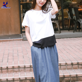 【春夏新品】American Bluedeer - 拼接質感上衣(特價) 春夏新款