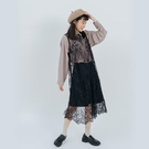 Queen Shop【01096895】蕾絲雕花後綁帶設計背心洋裝*現+預*