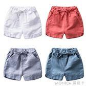 男童棉麻短褲新款女童夏裝童裝潮兒童褲子薄款寶寶夏季小童五分褲 莫妮卡小屋