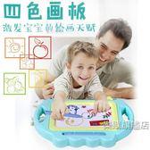 降價兩天-兒童彩色畫畫板磁性寫字板寶寶嬰兒1-3歲幼兒涂鴉板4色