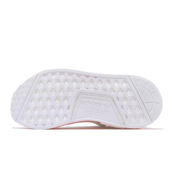 【六折特賣】adidas 休閒鞋 NMD_R1 白 橘 男鞋 女鞋 Boost 塗鴉 運動鞋 襪套式 【ACS】 FV7852