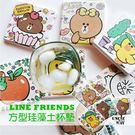 [買1送2] LINE FRIENDS 手繪方型杯墊【LN000401】 威叔叔百貨城堡 珪藻土杯墊 2入組 正版杯墊