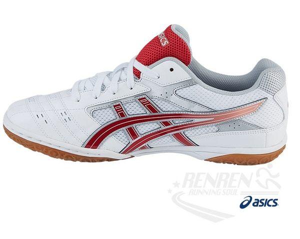 ASICS亞瑟士 男女全碼 羽球鞋 排球鞋 (白/紅) TPA332-0123【 胖媛的店 】