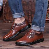 皮鞋—男鞋夏季潮鞋新款商務男士休閒黑色皮鞋男英倫防滑爸爸鞋工作鞋子 依夏嚴選
