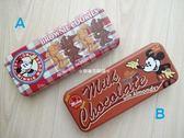 ☆草莓牛奶屋☆日本進口DISNEY【米妮VS.米奇】雙層鐵筆盒