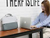 電腦包 筆記本電腦包手提單肩15.6英寸14男13.3女thinkpad   瑪麗蘇