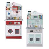 【加贈11件鍋具組】Teamson 蜜糖甜心玩具廚房 廚具組(兩款可選)