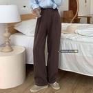西裝褲2020新款秋季女寬鬆休閒褲高腰直筒褲拖地褲寬管褲長褲褲子 【草莓妞妞】