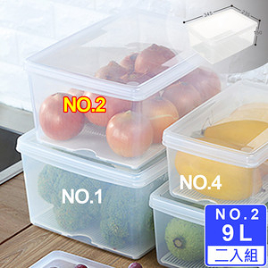 【Famous】名廚2號長型保鮮盒(二入)