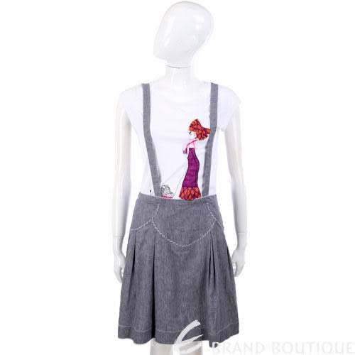 Kristina Ti 灰色可拆式吊帶及膝裙 0820037-06