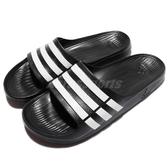 adidas 拖鞋 Duramo Slide 黑 白 運動拖 三條線 男鞋 女鞋 涼拖鞋 男女款【PUMP306】 G15890