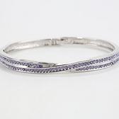 手環 925純銀 鑲鑽-唯美百搭生日情人節禮物女手鍊6色73ak132【時尚巴黎】