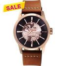 【限時特價】 RELAX TIME RT62系列 人動電能地球腕錶-玫塊金x咖啡45mm RT-62K-9
