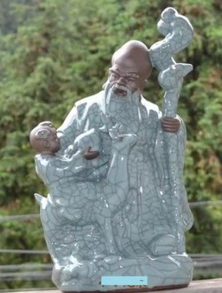[協貿國際]  青瓷仿古老壽星送禮祝壽常用  (1入)