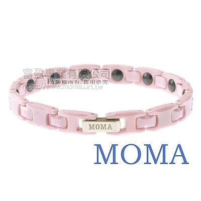 【MOMA】陶瓷鍺磁手鍊粉彩窄版-M32L-最佳情人禮