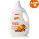 金德恩 台灣製造 多功能橘子水晶生態濃縮洗衣精2000ml/罐  (橘子油)