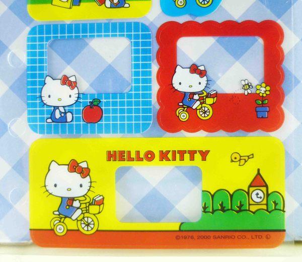 【震撼精品百貨】Hello Kitty 凱蒂貓~KITTY貼紙-六孔騎車