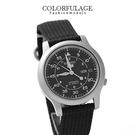 帆布SEIKO精工五號黑色系腕錶 穩重自動上鍊機械錶 柒彩年代【NE1025】附贈禮盒+提袋