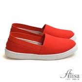 專櫃女鞋 MIT防磨腳鬆緊帆布懶人鞋-艾莉莎Alisa【24610071】紅色下單區
