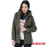 BOBSON 女款軍風連帽水洗外套(35112-41)
