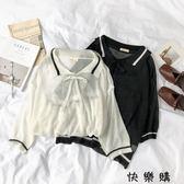 寬鬆針織衫時尚鏤空上衣潮