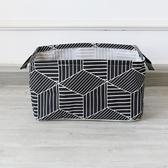 ✭慢思行✭【M109】多功能幾何圖形收納盒 手提 印花 收納桶 簡約 日系 居家 創意