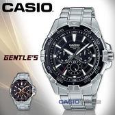 CASIO 卡西歐 手錶專賣店 國隆 MTD-1069D-1A2 三眼計時男錶 不鏽鋼錶帶 黑色/黑X玫瑰金錶面 MTP-E200D