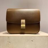 ■專櫃83折■全新真品 ■Celine 中款頂級小牛皮Classic Box 焦糖棕色