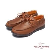 CUMAR陽光型男 拼接時尚縫線休閒鞋-棕