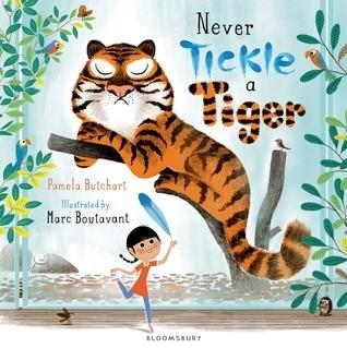 【麥克書店】NEVER TICKLE A TIGER (中譯: 千萬別搔老虎的癢)  2015年國外書評必備繪本