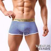 情趣內褲 情趣睡衣 調情內褲 角色扮演 內褲 同志 猛男 VENUS 海軍風 時尚條紋 男士 四角褲 內褲 藍
