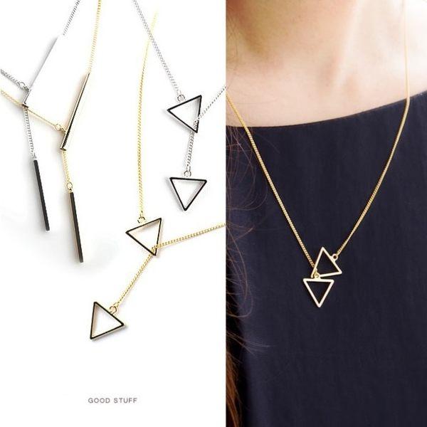 項鍊 日系優雅幾何造型簡約 鎖骨鍊