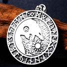 《QBOX 》FASHION 飾品【CBP8-277】精緻個性北歐神話奧丁狼頭符號鑄造鈦鋼墬子項鍊