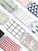 格子餐桌墊餐墊餐巾美食攝影北歐拍照背景布ins桌布攝影拍攝道具 熱賣單品