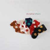 襪子 兒童 韓國 圓點 波點 短襪
