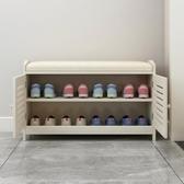 換鞋凳式鞋柜家用收納儲物凳門口多功能鞋架沙發凳簡約現代穿鞋凳   蘑菇街小屋   ATF