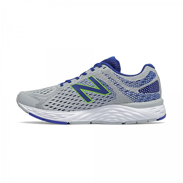 New Balance 男款2E寬楦灰藍色運動慢跑鞋 M680AC6