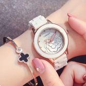 618好康鉅惠 2018新款手錶白色陶瓷防水女士腕錶石英錶