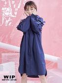 新品2%   WIP  超寬鬆造型襯衫-藍 AW