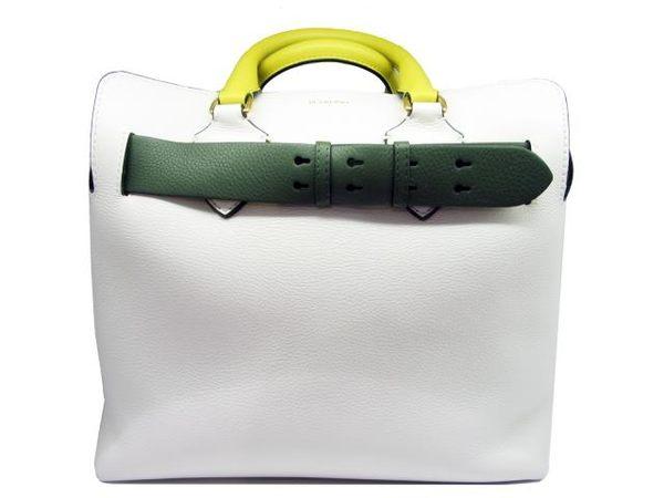 BURBERRY 白色牛皮手提肩背包 兩用包 Belt Bag 【BRAND OFF】