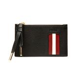 【台中米蘭站】全新品 BALLY Mandhy 牛皮拉鍊卡片零錢包(6232966-黑)