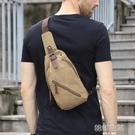 胸包男超火男士包包學生斜背包單肩背包休閒潮流斜跨帆布小包