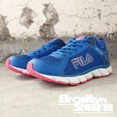 FILA  寶藍桃 透氣 復古 休閒鞋 慢跑鞋 女 (布魯克林) 5J972Q335