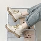 白色馬丁靴女ins網紅瘦瘦靴2020年新款英倫風秋冬單靴平底短靴子 童趣屋