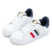 PLAYBOY 美式街頭 輕量貝殼兔兔小白鞋-藍紅(Y7228)