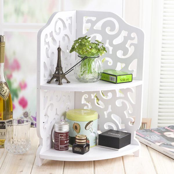 桌面置物架三角架子轉角儲物架衛生間收納架層架浴室化妝品收納架  igo 居家物語
