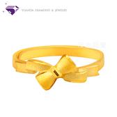 【元大鑽石銀樓】『繫愛』黃金戒指 活動戒圍-純金9999國家標準